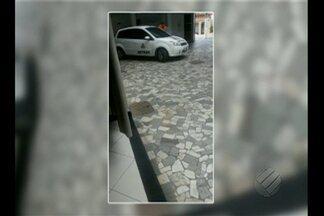 Carro do Detran foi flagrado entrando num motel no último final de semana, em Belém - Cinegrafista amador registrou carro do órgão estadual no estabelecimento.