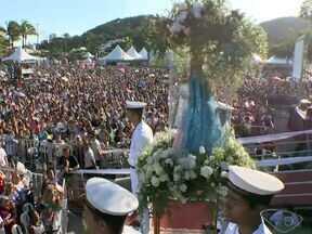 Missa de encerramento da Festa da Penha reúne mais de 200 mil no ES - Número foi divulgado pela organização do evento.Segundo arcebispo, local se tornou a 'praça da paz, da fé e da esperança'.