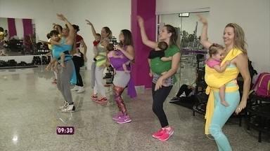 Mamães inventam novas formas de perder quilinhos que ganharam na gravidez - Ana Maria mostra nova modalidade chamada' canguru fit'