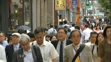 Pesquisa aponta redução da população japonesa - Hoje, a população tem pouco mais de 127 milhões pessoas. Esse é o número mais baixo em 15 anos.