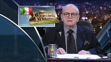Roma urgente! Jô começa programa de segunda-feira com as principais notícias do dia - César Menotti & Fabiano e Ulysses Cruz são os convidados da noite