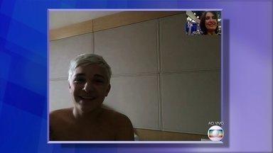 Fátima Bernardes conversa com MC Gui, em vídeo, após acidente do cantor - Cantor fala sobre recuperação após queda em show