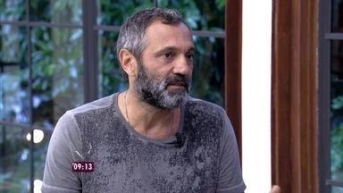Domingos Montagner comenta relação de cumplicidade com a esposa - Ator também fala sobre seu papel na novela Sete Vidas e sua parceria com a atriz Débora Bloch