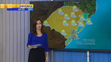 Tempo: frente fria chega ao RS no sábado (2) e provoca chuva - Há previsão de temporais para todas as regiões do estado no final de semana.