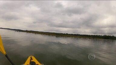 Dois técnicos da Sabesp desaparecem na Represa Billings - Os técnicos foram coletar amostras de água e sumiram. O barco foi achado com o motor ligado, com pertences intactos. As buscas devem se concentrar nas margens da represa.