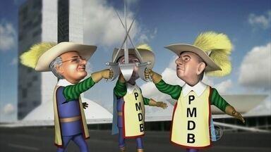 Os Três Mosqueteiros do PMDB dão o seu grito de guerra - Michel Temer, Renan Calheiros e Eduardo Cunha são os Três Mosqueteiros do PMDB. Seu lema é 'Nenhum pelos outros! Cada um por cada um!' Pode?