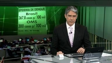 Ministro da Saúde admite que o Brasil passa por uma epidemia de dengue - A incidência no país é de 367,8 casos por 100 mil habitantes. A Organização Mundial de Saúde considera epidemia a partir de 300 casos por 100 mil.