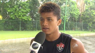 Garotos do sub-17 do Vitória estão confiantes para final contra o Botafogo - Jovens do rubro-negro precisam de três gols no Rio de Janeiro.