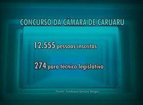 Confira a concorrência para o concurso público da Câmara Municipal de Caruaru - No total, 12.555 pessoas estão inscritas.