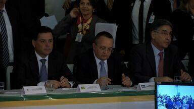 Discussão em Brasília sobre a partilha dos recursos - Discussão em Brasília sobre a partilha dos recursos entre União, Estados e Municípios.