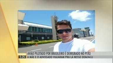 Piloto brasileiro é preso pela Força Aérea Peruana - O avião em que ele voava foi abatido pela Força Aérea Peruana. A mãe do piloto e o advogado da família embarcaram, de Curitiba para o PEru, para tentar resolver o problema.