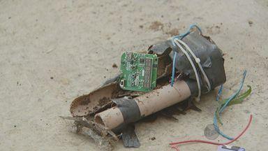 Bomba falsa é destruída em Campinas - O grupo especializado da polícia teve que isolar a área na Vila Mimosa.