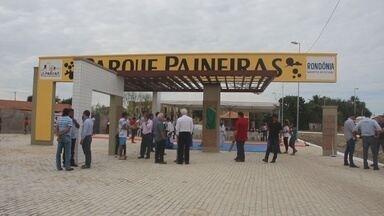 Parque das Paineiras foi inaugurado em Ji-Paraná - Obra custou mais de 6 milhões aos cofres públicos.