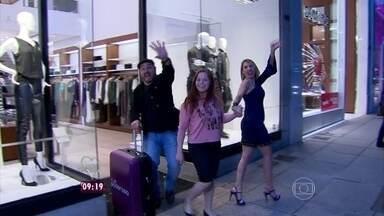 Beto, Danielle, Juliana e Thiago levam Evanilda para escolher roupas na Oscar Freire - Quarteto da transformação tentou mudar os hábitos da doméstica na hora de se vestir