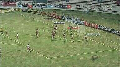 Boa Esporte empata fora de casa em 0 a 0 com o Santa Cruz e continua mal na Série B - Boa Esporte empata fora de casa em 0 a 0 com o Santa Cruz e continua mal na Série B
