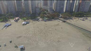 Festival Alma aconteceu na praia em Santos - Esporte e arte isso é o que muita gente foi ver hoje no Festival Alma na praia de Santos.