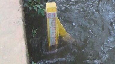 Cheia em Manacapuru já é considerada a maior da história no município - Nível do rio chegou a 20,69 cm