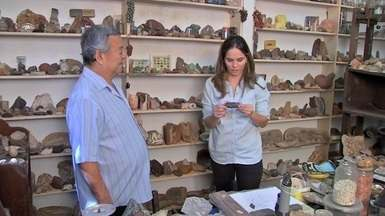 Fomos até o município de Poxoréu conhecer o Seo Marinho, um grande colecionador de pedras - Fomos até o município de Poxoréu conhecer o Seo Marinho, um grande colecionador de pedras