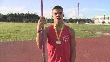 Amazonense é medalha de ouro no campeonato brasileiro de atletismo - O atleta parintinense Pedro Henrique Nunes, de 15 anos, venceu o evento.
