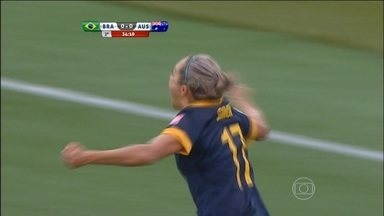 Brasil perde para a Austrália e é eliminado da Copa do Mundo de futebol feminino - Australianas venceram por 1 a 0.