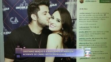 Cantor sertanejo Cristiano Araújo morre aos 29 anos após grave acidente de carro em Goiás - Carro do cantor capotou com quatro pessoas; ele e a namorada não resistiram