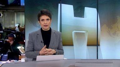 Veja no JH: morre cantor Cristiano Araújo em acidente de carro em GO - A namorada também morreu no acidente, na cidade de Morrinhos. Suspensa a extradição de Henrique Pizzolato da Itália para o Brasil. Inflação deve chegar a 9% em 2015. Começa nesta quarta (24) a maior feira de franquias do Brasil.