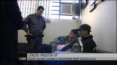 Redes sociais ajudam a encontrar bebê sequestrado no interior de SP - Criança de apenas três meses havia sido levada para longe de casa pela própria vizinha.
