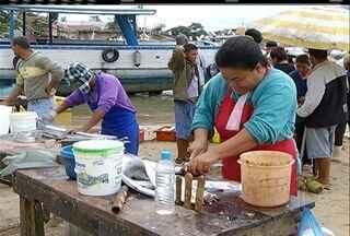 Pescadores de Tamoios, em Cabo Frio, reclamam da falta de estrutura do pier do distrito - Falta de estrutura influencia na qualidade do pescado.