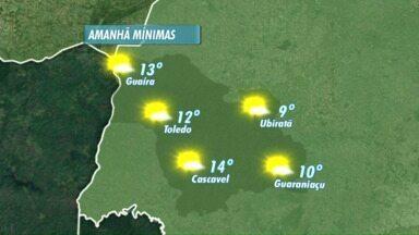 Fim de semana vai ser de sol - Massa de ar frio e seco continua sobre o Paraná.