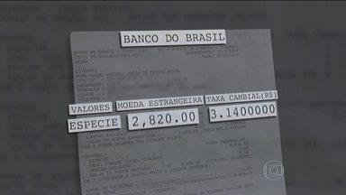 Família é investigada nos EUA após usar dólares falsos comprados no BB - Gerente de banco americano chamou polícia após receber o dinheiro. João, que foi visitar filha, só pode voltar ao Brasil após caso ser esclarecido.