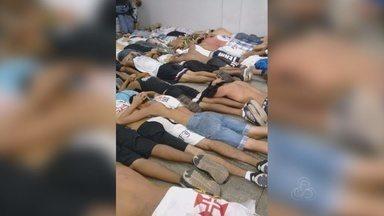 Briga entre torcida de Fla e Vasco termina com 35 detidos, diz PM-AM - Duas pessoas ficaram feridas, segundo a assessoria da Polícia Militar.Caso ocorreu próximo a terminal de ônibus na Cidade Nova, em Manaus.