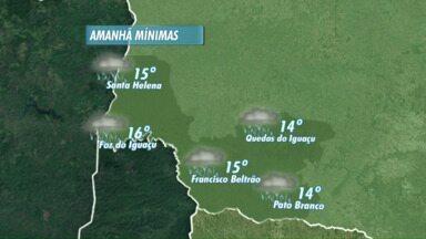 Frente fria muda o tempo no Paraná - A terça-feira vai ser chuvosa no oeste e no sudoeste.