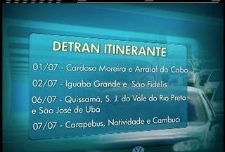 Detran itinerante faz atendimento nas cidades do interior do Rio a partir desta quarta - Serviços como licenciamento anual e transferência anual estão disponíveis.