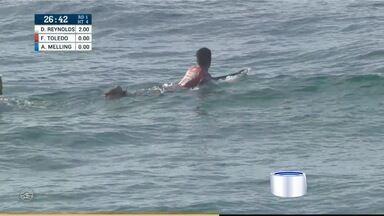 Começam as disputas do mundial de surfe - Surfistas da região foram para a repescagem.