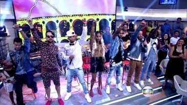 Melanina Carioca abre o Encontro com 'Só Rezo' - Banda agita o programa com um de seus hits