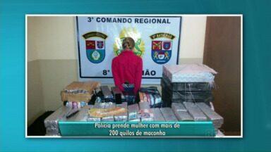 Mulher é presa com mais de 200 quilos de maconha em Loanda - A apreensão foi durante a madrugada. Ela foi presa.