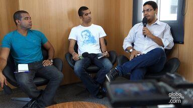 Equipe do Globoesporte.com grava Ba-Vi em pauta sobre jogo do Bahia - Confira o programa.