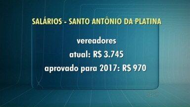 Vereadores aprovam projeto que prevê redução nos salários da próxima legislatura - Os vereadores passam a ganhar R$ 970 e o prefeito R$12 mil.