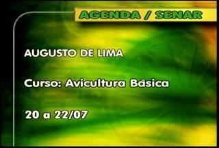 Veja os cursos oferecidos pelo Senar - Em Augusto de Lima, tem curso de Avicultura básica.
