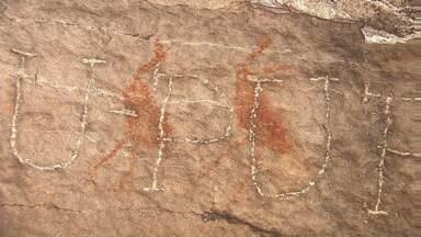 Pinturas rupestres estão sendo alvo de vândalos nos Campos Gerais - Artes antigas que registram um pouco da nossa história estão sendo riscadas e perdendo-se com o vandalismo