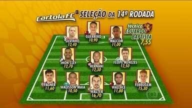 Cartola FC: Confira a seleção da 14ª rodada do Brasileirão - Walter, do Corinthians, ganha destaque na lista.