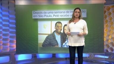 Pelé recebe alta após cirurgia na coluna - Rei do futebol ficou uma semana internado