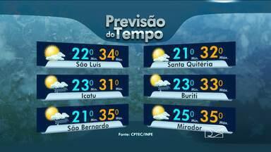 Veja como fica o tempo nesta terça-feira (21), no Maranhão - O dia é parcialmente nublado em boa parte do estado.