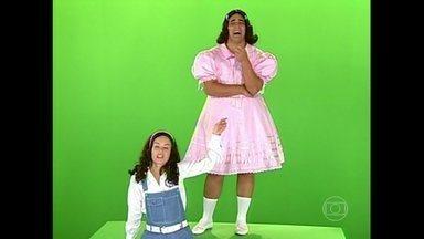André Marques e Angélica refizeram a abertura da novela Sonho Meu - A brincadeira foi ao ar no Vídeo Show de 2003