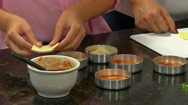 Culinarista ensina a fazer mini pizza de abobrinha - Culinarista ensina a fazer mini pizza de abobrinha