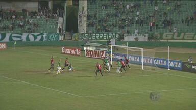 Guarani deixa chance de vitória dentro de casa escapar no Brasileirão - O Bugre esteve por duas vezes a frente do placar, mas cedeu o empate ao Brasil de Pelotas.