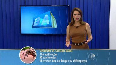 Sobe para 106 o número de casos de notificados da síndrome de Guilain-Barré na BA - Cinquenta foram confirmados e 48 dos doentes tiveram dengue, zica ou chikungunya .