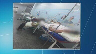Fotos mostram superlotação no hospital João Lúcio, em Manaus - Mais de 600 atendimentos são feitos por dia no local.