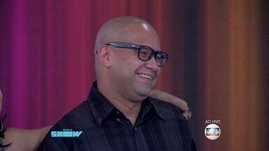 Welder Rodrigues faz aparição relâmpago no Vídeo Show - Otaviano Costa e Monica Iozzi se surpreendem com 'visita'