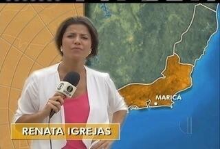 Prefeito de Maricá, RJ, é atacado durante entrevista a equipe da Inter TV - Prefeito e cinegrafista da Inter TV ficaram feridos.